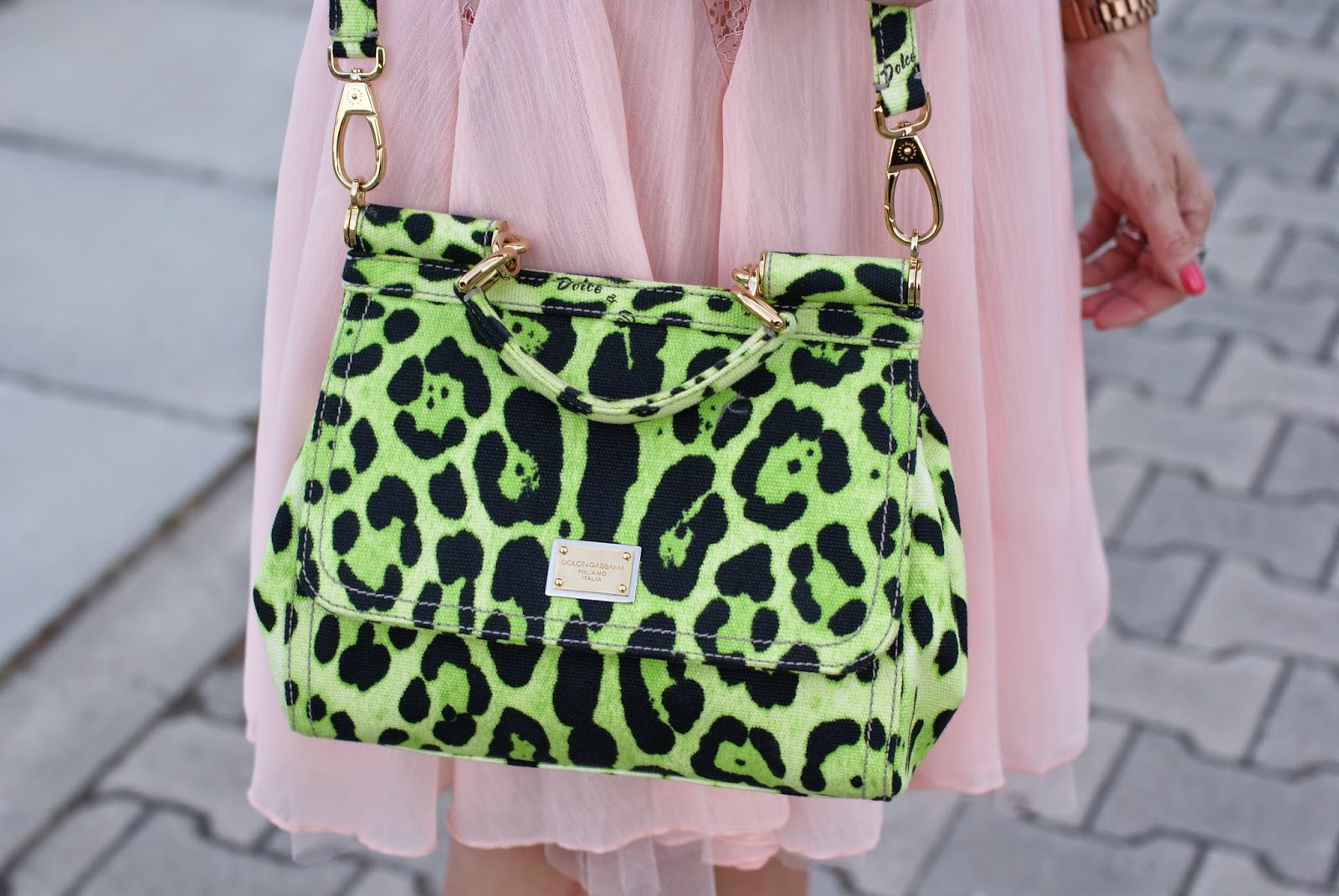 Dolce e gabbana Miss Sicily green animalier bag, Fashion and Cookies, fashion blogger