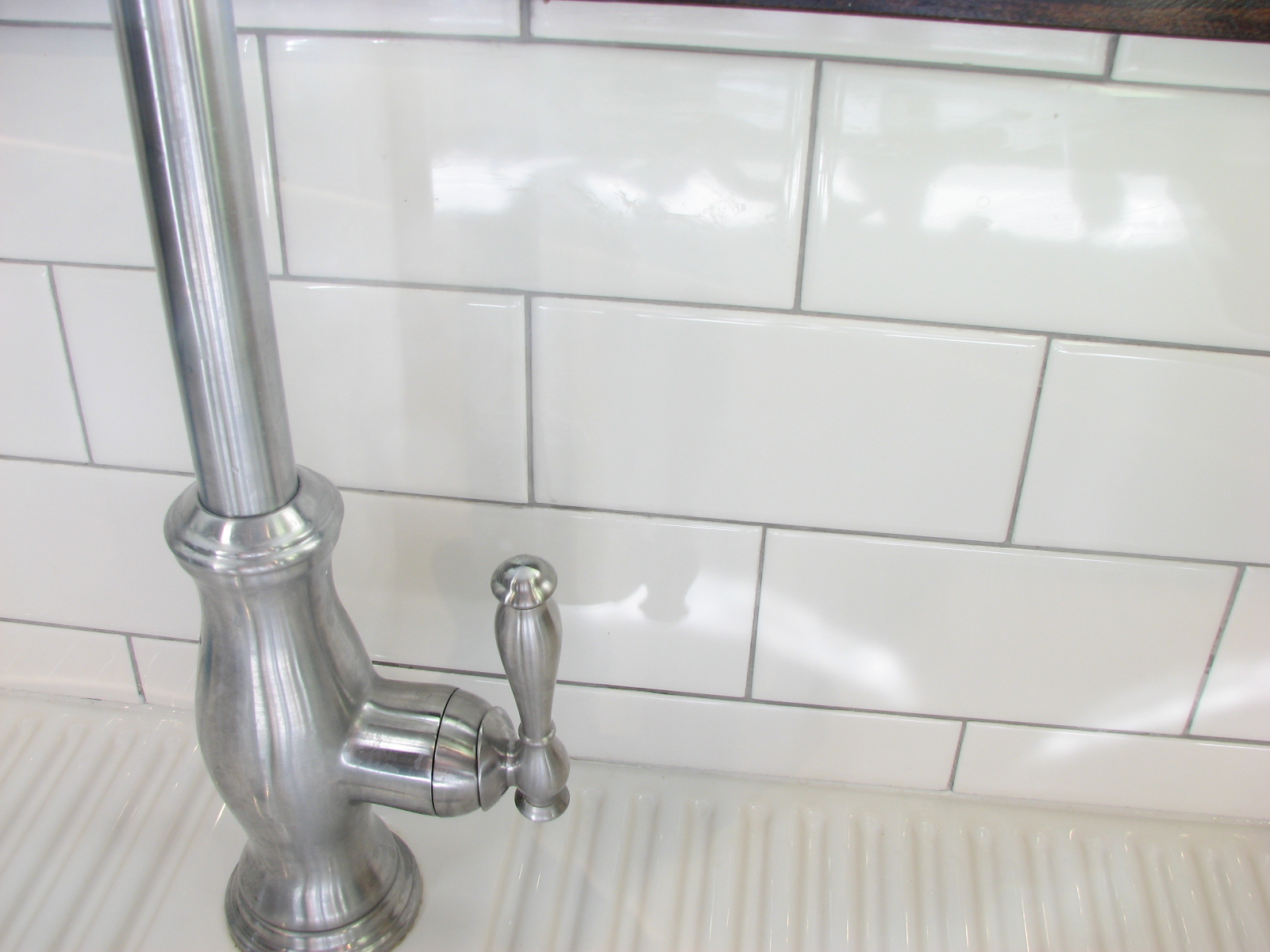 Subway Tile With Silver Grout Kitchen Pinterest