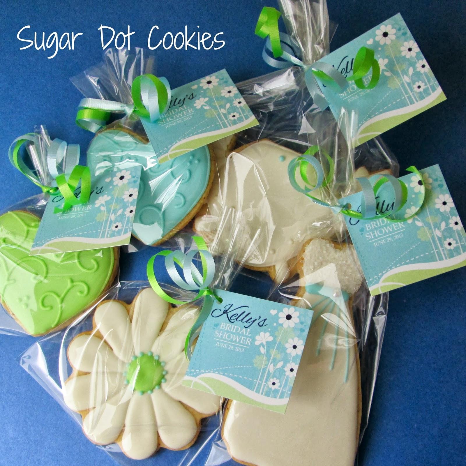Sugar Dot Cookies Bridal Shower Cookies