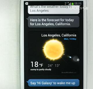 Galaxy S III intelligence demo