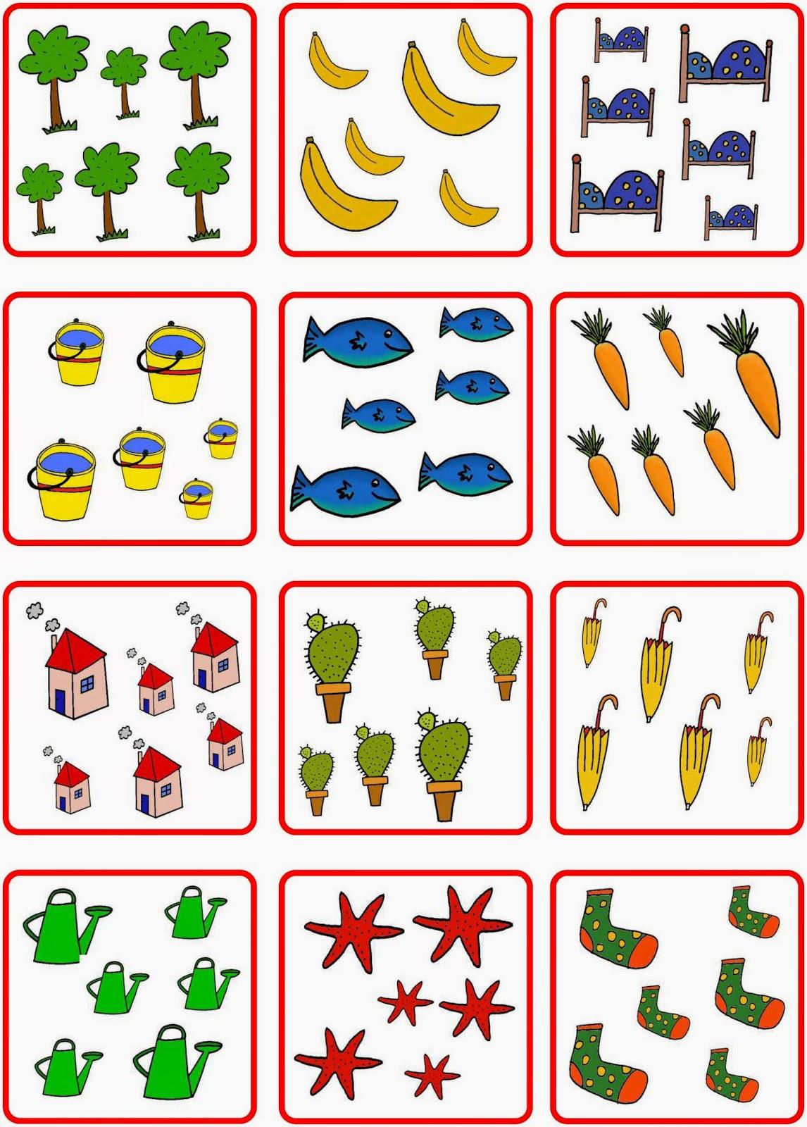 lernst252bchen w252rfelbilder und anzahlen bis 6
