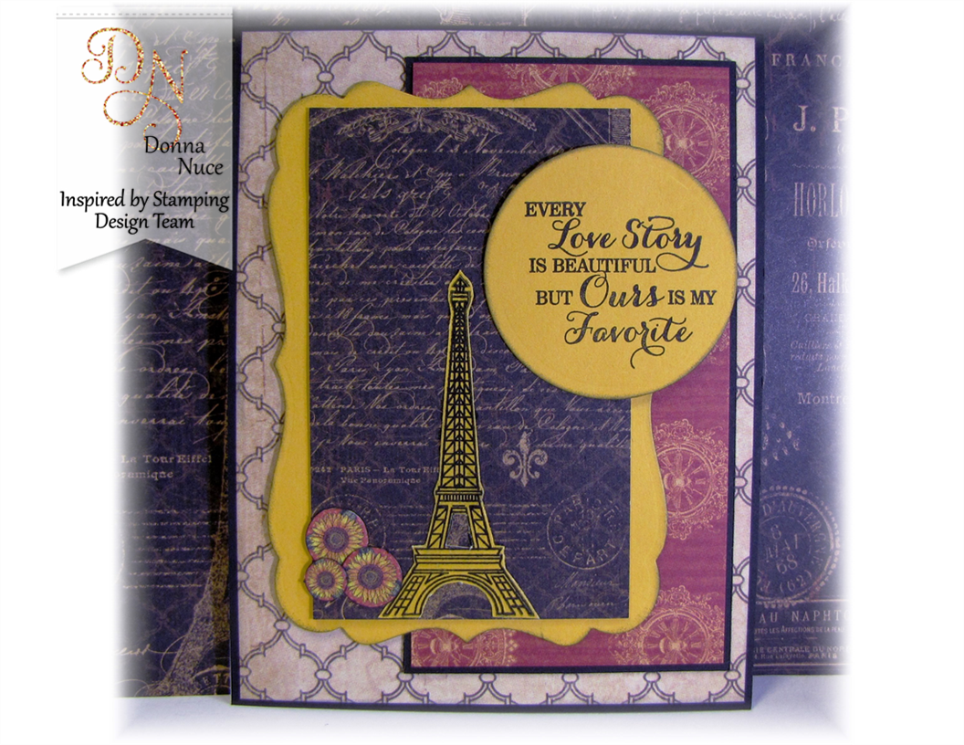 Inspired by Stamping, Crafty Colonel, Paris Love Stamp set, Love card