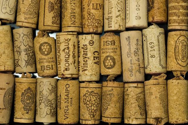 corcho de la botella de vino arbol