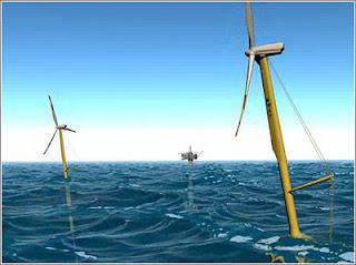 dibujo de aerogeneradores marinos