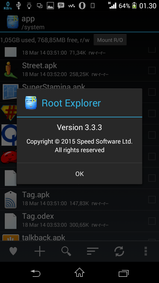 http://wahyudroids.blogspot.com/2015/03/root-explorer-333-for-android-new.html