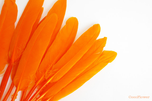 Plume orange - cocoflower - http://cocoflower.alittlemercerie.com