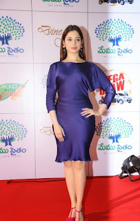 Actress Tamannaah Latest Pictures in Silk Short Dress at Memu Saitam Dinner with Stars Red Carpet  24).jpg