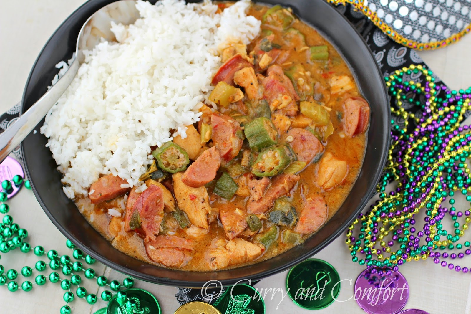 Andouille Sausage And Chicken Gumbo With Fried Okra Recipe ...