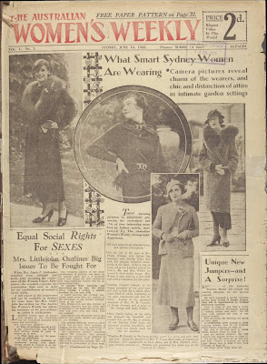 The Australian Women's Weekly, officially began circulation on Saturday, 10 June 1933