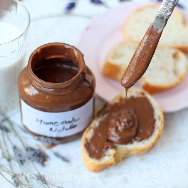 ev yapımı nutella, ev yapımı fındık ezmesi, kakaolu fındık ezmesi, nutella tarifi