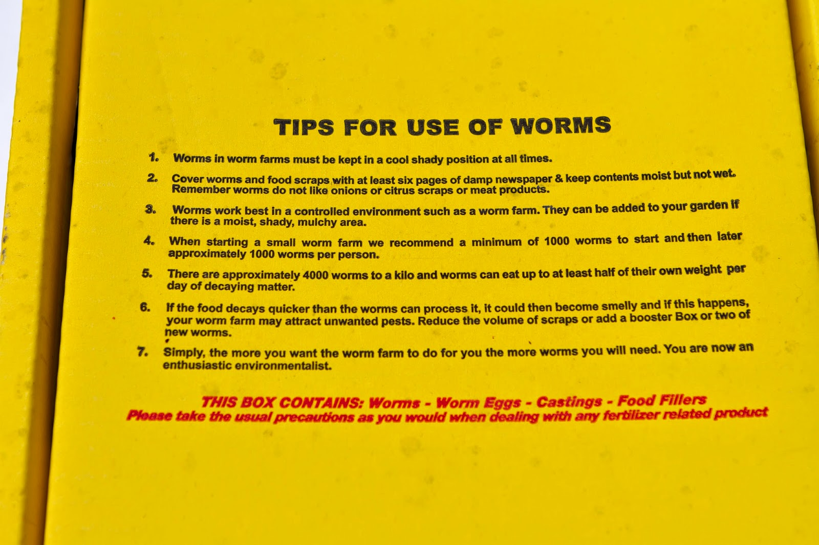 bunnings worm farm instructions