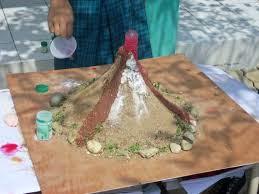 Percobaan simulasi letusan gunung merapi