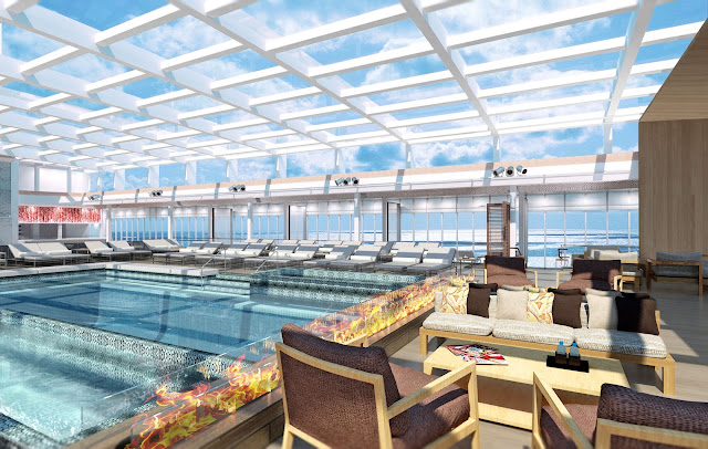 Look at this main pool with retractable roof. All photos: © Viking Cruises. Unauthorized use is prohibited.
