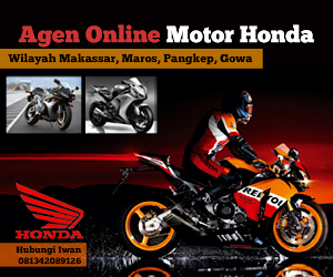 Agen Online Motor Honda Untuk Wilayah Makassar, Maros, Pangkep dan Gowa