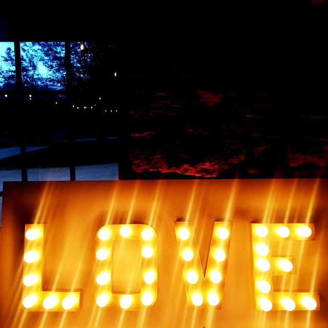 DIY LOVE marquee