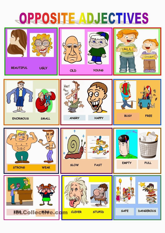 Opposite Adjectives Para Todos on Kindergarten Worksheets 22