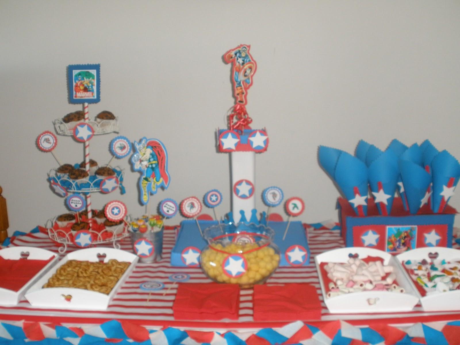 Centros de mesa infantiles ni os avengers capitan america - Mesas infantiles de plastico ...