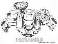 Halaman Mewarnai Gambar Iron Man 3