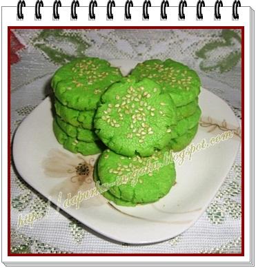 Resep Cookies Kelapa, Kue Kering Pandan Kelapa