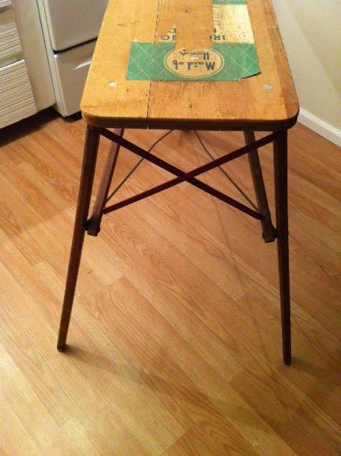Artifact Vintage Wood And Metal Ironing Board Circa 1940 SOLD