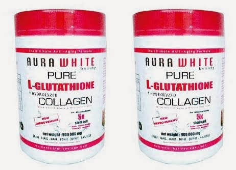 Aura White Gluta Collagen 900 000mg