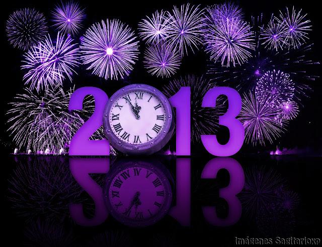 Fondo de pantalla: Feliz año 2013 - Morado