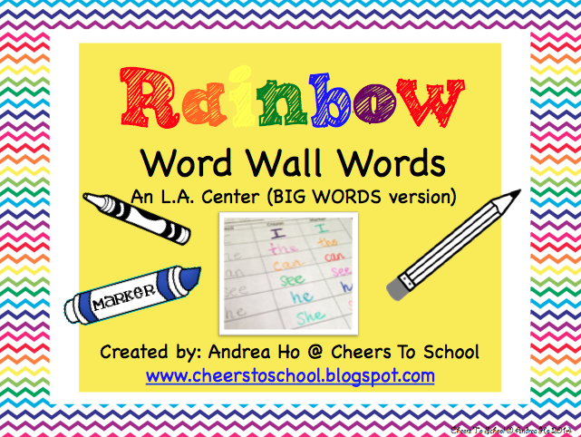 http://www.teacherspayteachers.com/Product/Rainbow-Word-Wall-Words-BIG-WORDS-version-Freebie-1376352