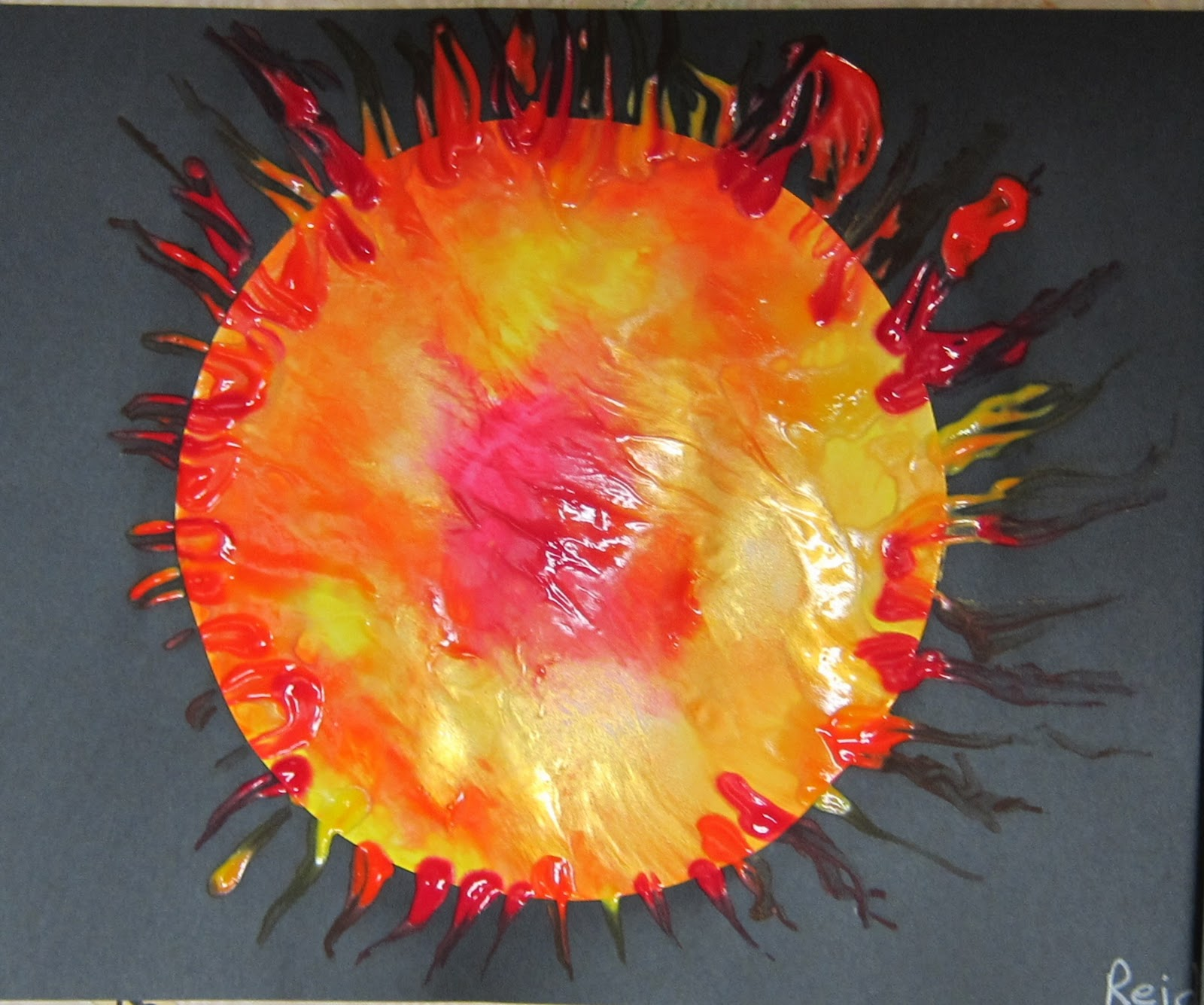Space Craft Ideas For Kids Part - 43: Sun Fingerpainting Space Craft. Mrs. Karenu0027s Preschool Ideas