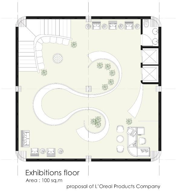 Floor plan of exhibitions floor
