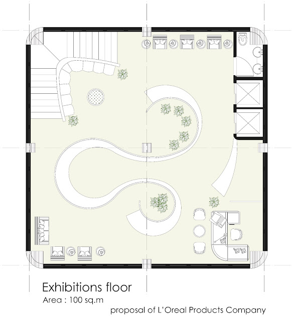 Floor plan of exhibitions floor