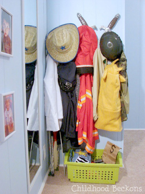 organize dress up clothes