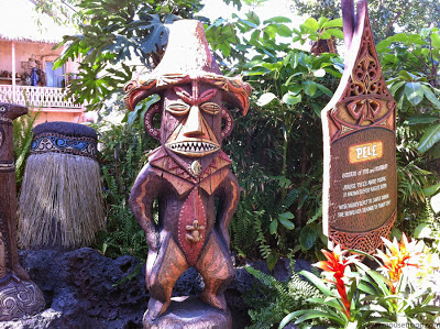 Enchanted Tiki Room preshow Pele fire volcano cute story Crump