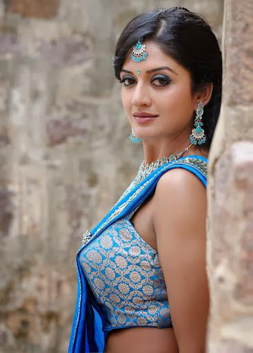 Vimala Raman In Blue Saree