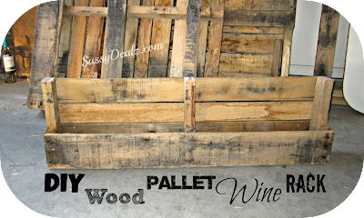 diy wood pallet wine rack instructions