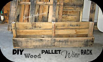 diy wood pallet wine rack instructions