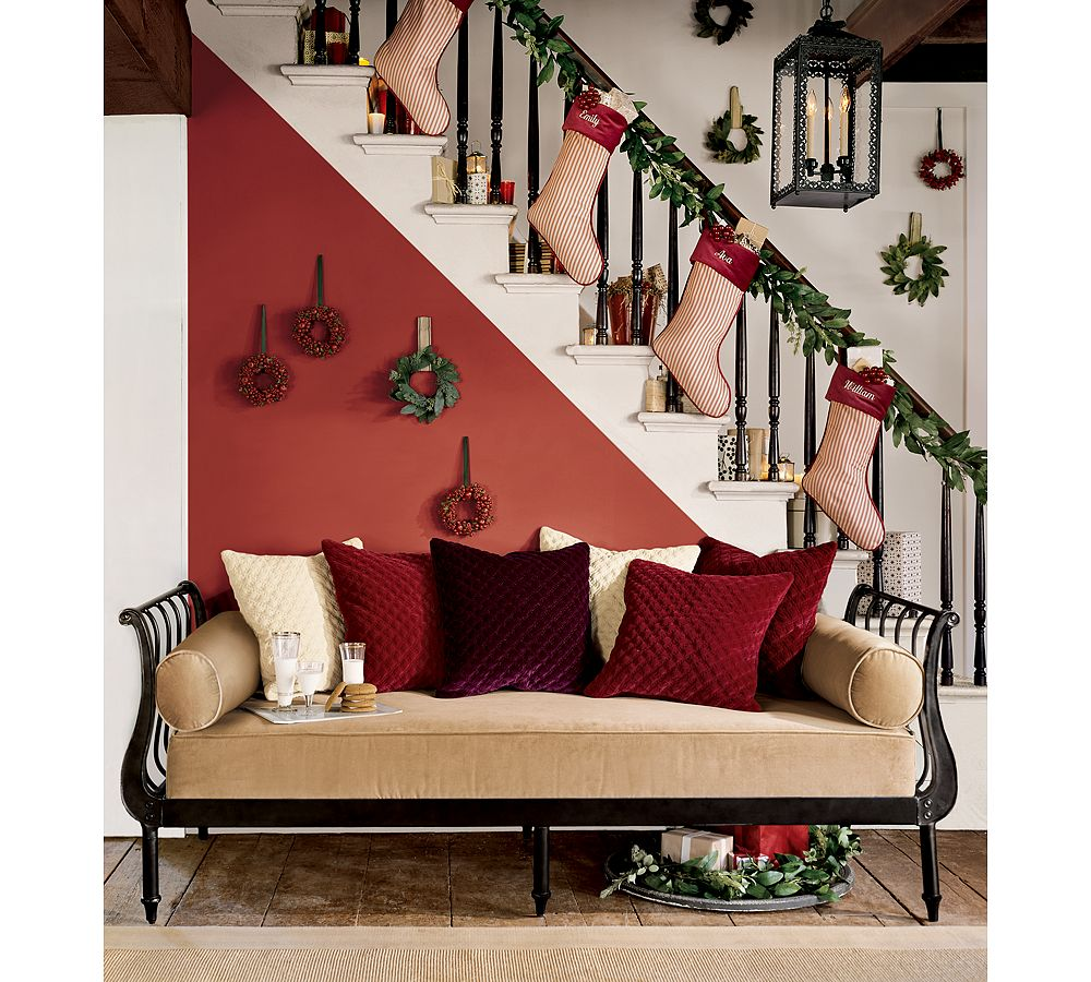 10 alternative ways to hang stockings through the front door