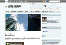 FinancialBlog Blogger Template