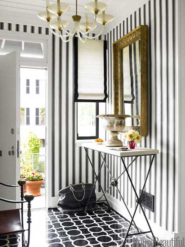house beautiful traditional black and white foyer design