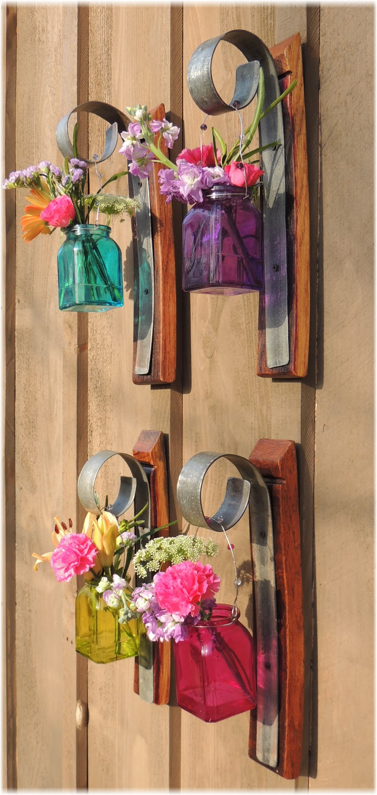 Cork To Barrel Wall Hanging Sconce Flower And Candle Sconce