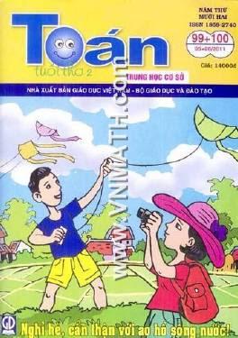 tạp chí toán tuổi thơ số 99, toán tuổi thơ số 100, tháng 5, tháng 6 2011, toan tuoi tho, thsc, tieu hoc