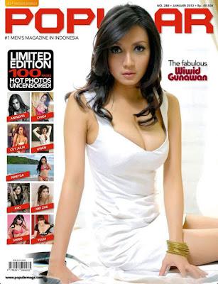 foto seksi wiwid gunawan di majalah popular
