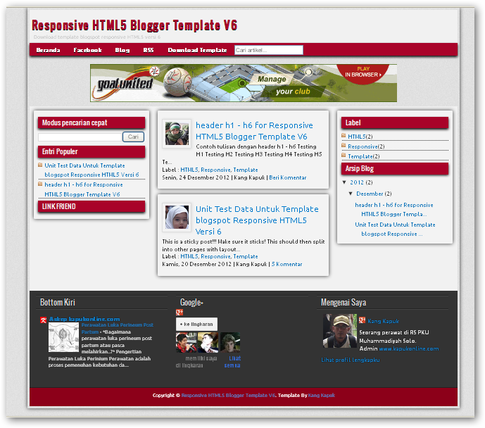 Html5 Blogger Templates Responsive HTML5 V.6 Blogger Templates - Free Download ...