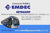 Apostila EMDEC - Empresa Municipal de Campinas - Assistente Administrativo Jr.