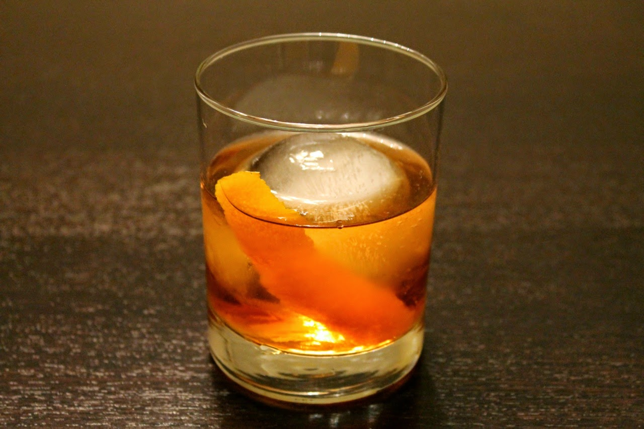 Old Fashioned Cocktail with whiskey barrel-aged bitters