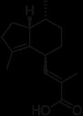acido valerenico, formula di struttura