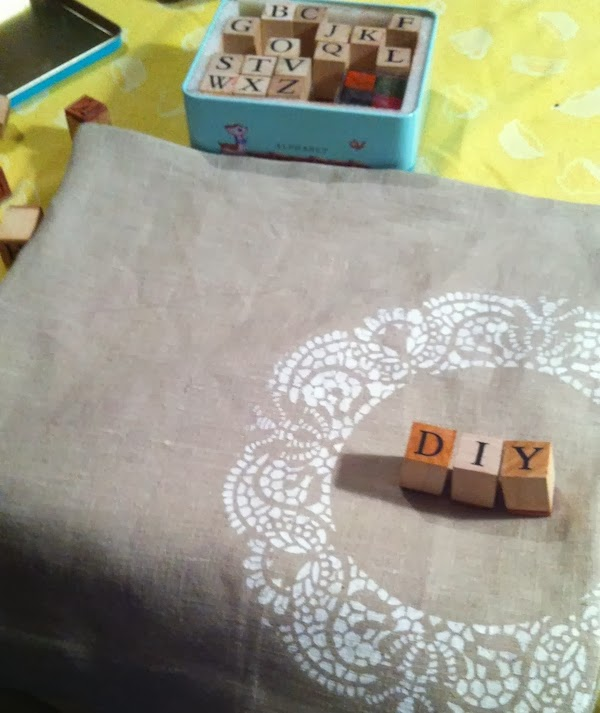 stamping on fabric