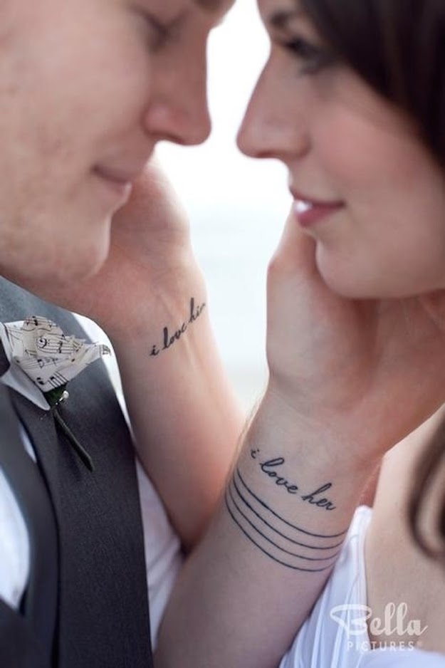 i love her i love him tattoo for couple