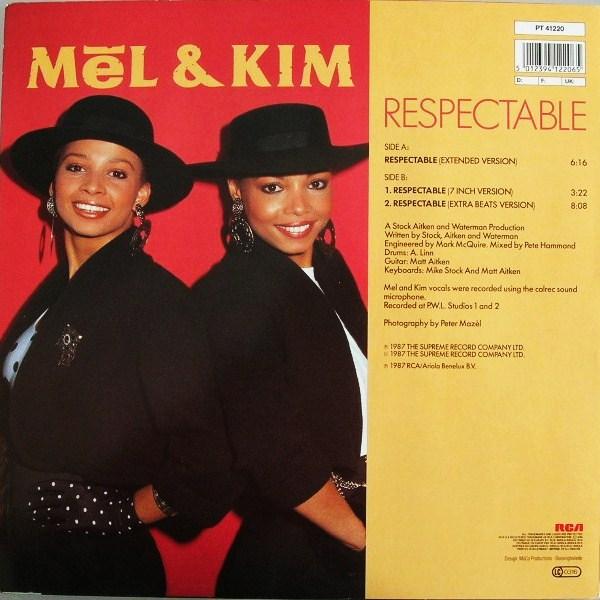 Dance Vs House Mel Amp Kim Respectable Maxi Single Vinyl