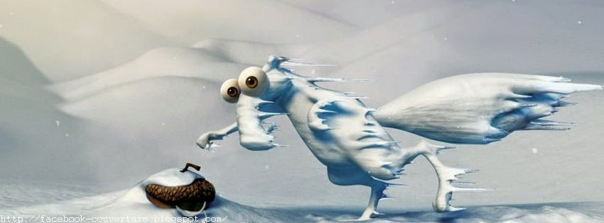 Couverture facebook glacée d'Ice Age