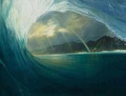 los verdes y azules de las olas